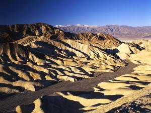 Telescope Peak in Mojave Desert, Death Valley National Park, Zabriskie Point, California, USA by Adam Jones
