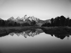 Teton Range Reflecting in Beaver Pond, Grand Teton National Park, Wyoming, USA by Adam Jones