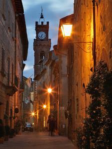 Twilight in Pienza, Tuscany, Italy by Adam Jones
