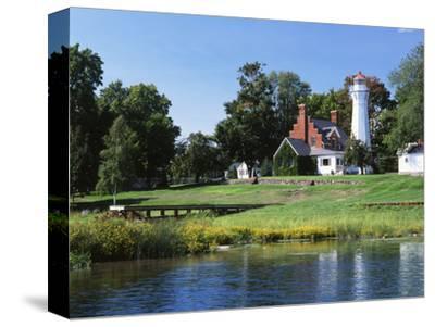 View of Lake Huron and Port Sanilac Lighthouse, Michigan, USA
