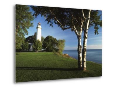 View of Lake Huron, Ponte Aux Barques Lighthouse, Michigan, USA