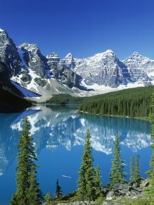 Wenkchemna Peaks and Moraine Lake, Banff NP, Alberta, Canada by Adam Jones