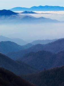 Winter View of Deep Creek Valley, Great Smoky Mountains National Park, North Carolina, USA by Adam Jones