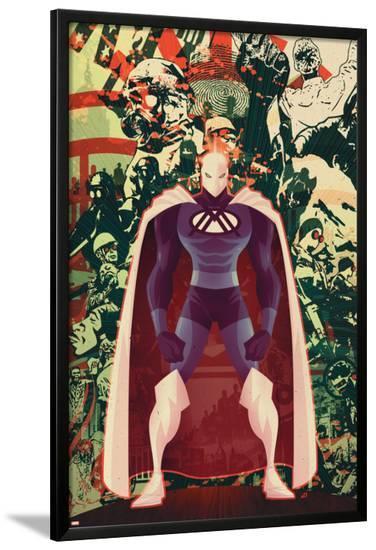 Adam: Legend Of The Blue Marvel No.3 Cover: Blue Marvel-Juan Doe-Lamina Framed Poster