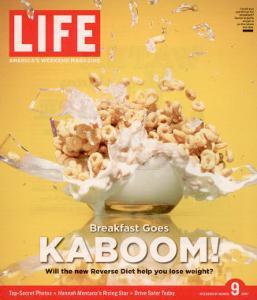 Breakfast Goes Kaboom! Reverse Diet, Dinner for Breakfast and Breakfast for Dinner, March 9, 2007 by Adam Levey