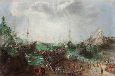 Harbour scene, c.1615