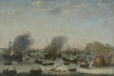 Naval battle near Gibraltar on 25th April 1607, 1639