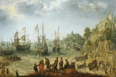 Ships Off a Rocky Coast, Adam Willaerts