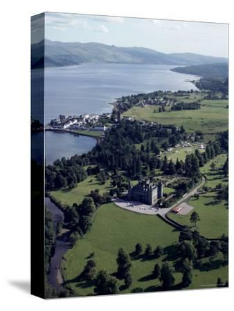 Aerial View of Inverary Castle and Loch Fyne, Inverary, Scotland, United Kingdom