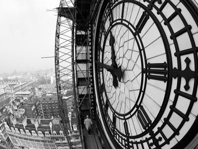 Close-Up of the Clock Face of Big Ben, Houses of Parliament, Westminster, London, England