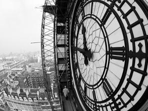 Close-Up of the Clock Face of Big Ben, Houses of Parliament, Westminster, London, England by Adam Woolfitt