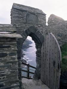 Doorway, Tintagel Castle, Cornwall, England, United Kingdom by Adam Woolfitt