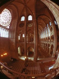 Interior, Notre Dame, Paris, France by Adam Woolfitt