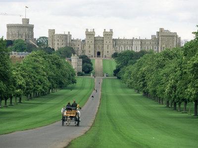 The Long Walk and Windsor Castle, Windsor, Berkshire, England, United Kingdom