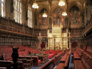 The Lords Chamber, House of Lords, Houses of Parliament, Westminster, London, England by Adam Woolfitt