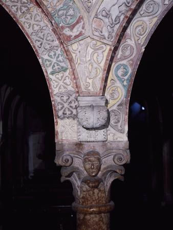 Relief Decorated Capital and Archvolt with Imaginary Animals