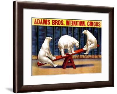 Adams Brothers Circus--Framed Giclee Print