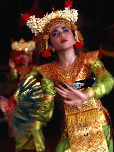 One of the Legong Dancers Competing in School Competitions at the Arts Centre, Denpasar, Indonesia by Adams Gregory