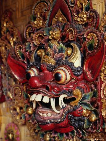 Traditional Balinese Wooden Mask for Sale in Ubud, Ubud, Indonesia