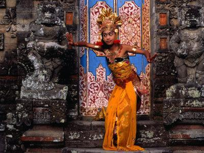 Young Girl at Temple Ceremony in Sengkidu, Indonesia