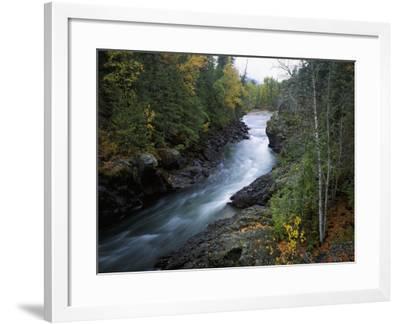 Adams River Runs Through a Canyon-Jeff Foott-Framed Photographic Print