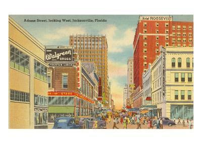 Adams Street, Jacksonville, Florida--Art Print