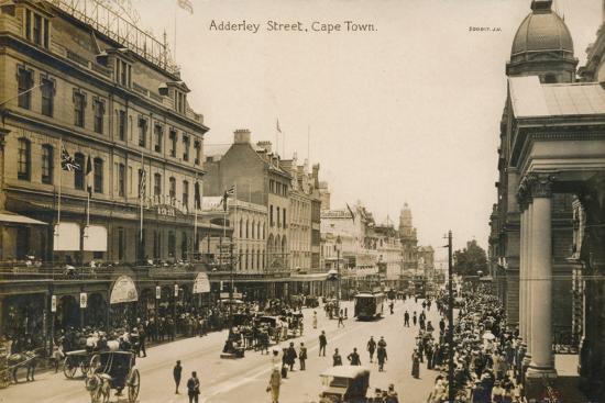 'Adderley Street, Cape Town', c1900-Unknown-Photographic Print
