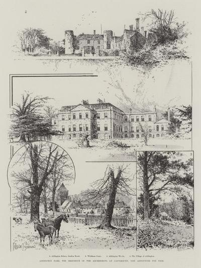 Addington Park, the Residence of the Archbishops of Canterbury, Now Announced for Sale-Joseph Holland Tringham-Giclee Print