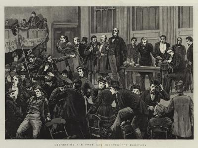 Addressing the Free and Independent Electors--Giclee Print
