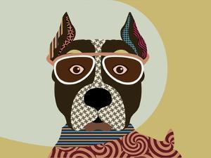 American Staffordshire Terrier by Adefioye Lanre
