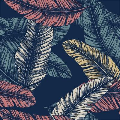 Tropical Palm Leaves. Seamless Pattern. Vector Illustration
