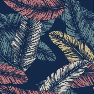 Tropical Palm Leaves. Seamless Pattern. Vector Illustration by adehoidar