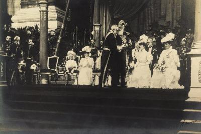 Adel Belgien, Leopold II, Empfang, Damen, Kinder--Giclee Print