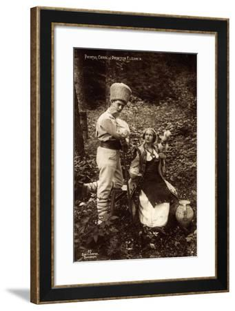 Adel Rumänien, Prinzessin Elisaveta, Prinz Carol--Framed Giclee Print