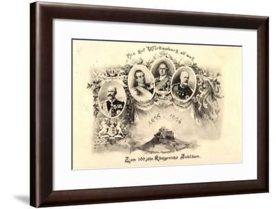 Adel Württemberg, Wilhelm II, Friedrich I, Karl I--Framed Giclee Print