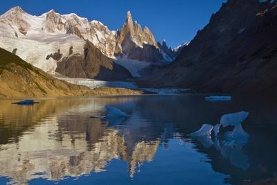 Adela and Cerro Torre Massifs Reflected in the Laguna Torre At Dawn-Beth Wald-Photographic Print
