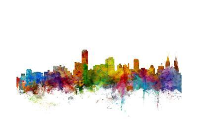 Adelaide Australia Skyline-Michael Tompsett-Art Print