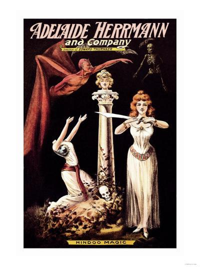 Adelaide Herrmann and Company: Hindoo Magic--Art Print