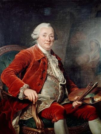 Portrait of Charles-Amédée-Philippe Van Loo by Adélaïde Labille-Guiard