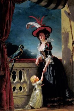 Portrait of Louise-Elisabeth of France with Her Son Ferdinand by Adélaïde Labille-Guiard