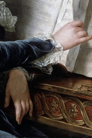The Comtesse De Selve Making Music, Detail, 1787 by Adélaïde Labille-Guiard