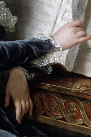 The Comtesse De Selve Making Music, Detail, 1787