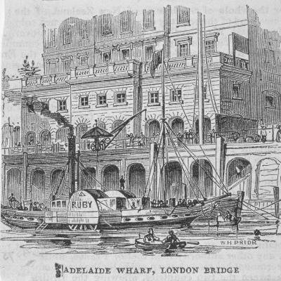 Adelaide Wharf, London Bridge, 1840-William Henry Prior-Giclee Print