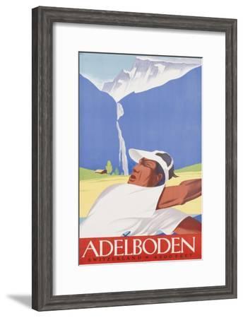 Adelboden, Circa 1940--Framed Giclee Print