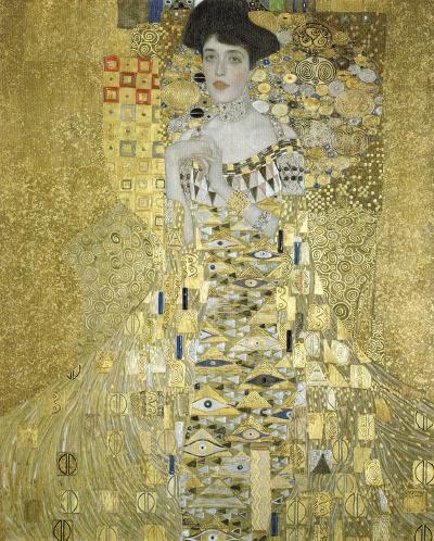 Adele Block Bauer-Gustav Klimt-Framed Textured Art