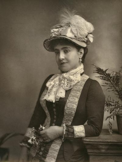 Adelina Patti, Italian Opera Diva, 1882--Photographic Print