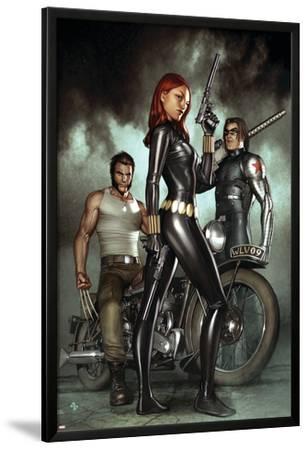 Black Widow: Deadly Origins No.1 Cover: Black Widow, Bucky and Wolverine