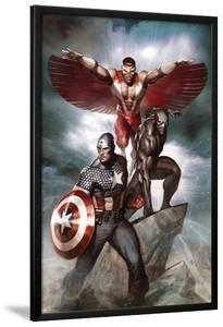 Captain America: Hail Hydra No.3 Cover: Captain America, Black Panther, and Falcon by Adi Granov
