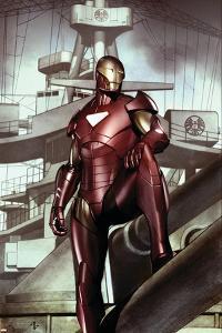 Iron Man: Director Of S.H.I.E.L.D. No.32 Cover: Iron Man by Adi Granov