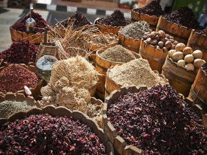 Display of Spices and Herbs in Market, Sharm El Sheikh, Egypt, North Africa, Africa by Adina Tovy